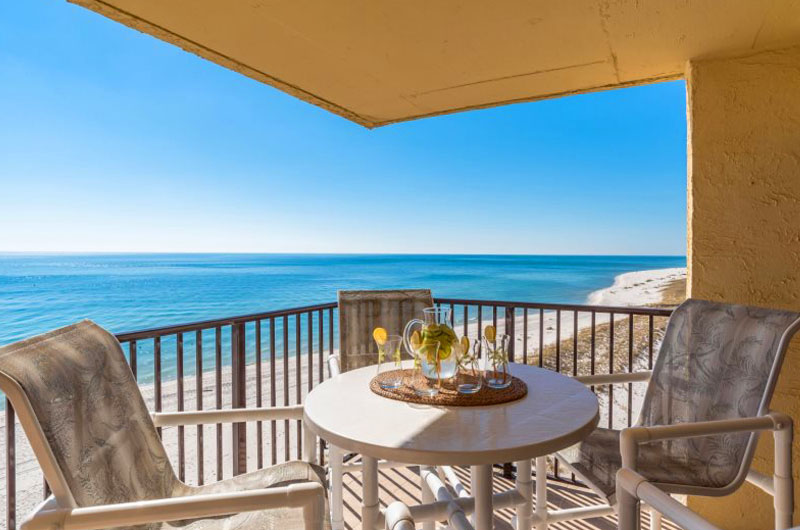 Beautiful gulf view of Perdido Beach from an Ocean Breeze East Balcony unit.