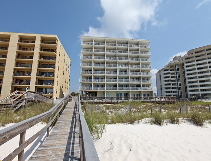 The crosswalk makes an easy walk from the beach to Perdido Skye Condominiums Perdido Key Florida