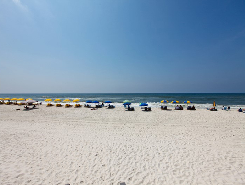 Gorgeous white sandy beach and crystal blue water await at Perdido Skye Condominiums Perdido Key Florida