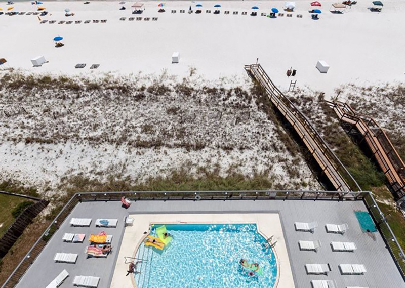 Beautiful view of the pool and Gulf from Perdido Skye Condominiums Perdido Key Florida