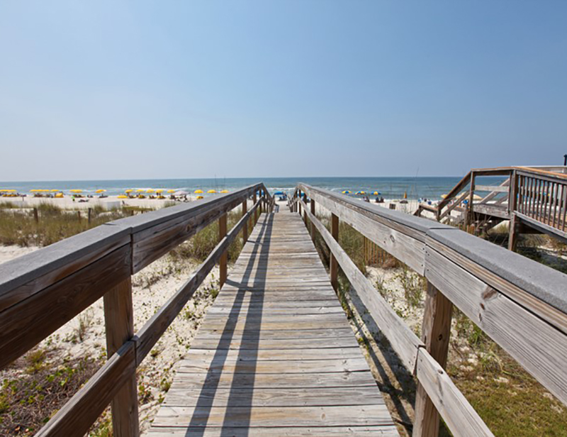 Easy walk to the beach from Perdido Skye Condominiums Perdido Key Florida