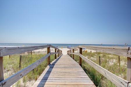 Easy access to the beach from Perdido Sun Condominiums in Perdido Key Florida