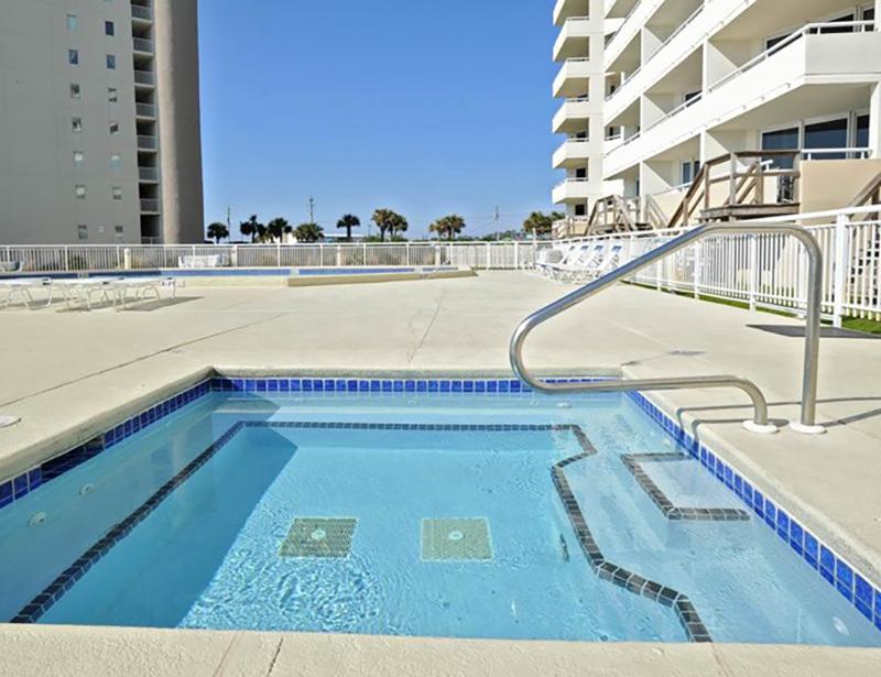 Relax in the hot tub at Perdido Sun Condominiums in Perdido Key Florida