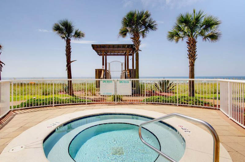 Spend time in the hot tub at Sandy Key Condominiums Perdido Key Florida