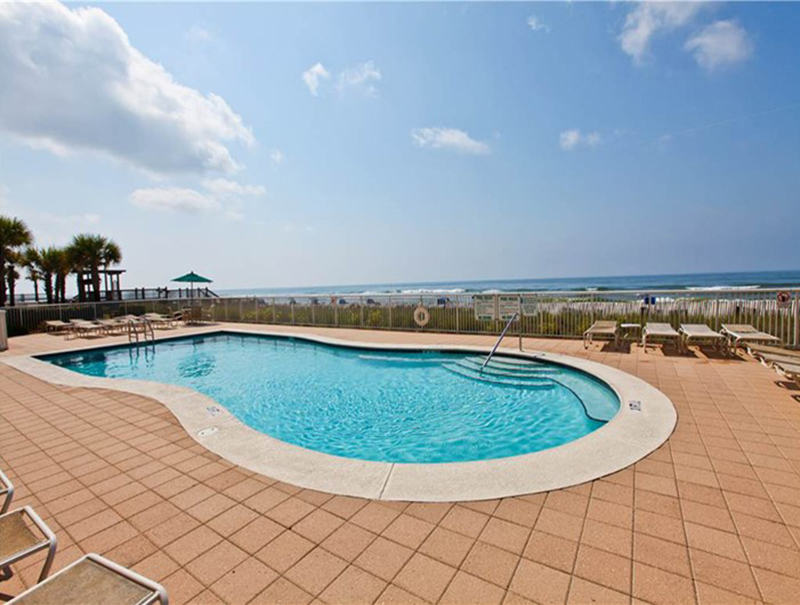 The pool is right on the Gulf at Easy access to the beach from Sandy Key Condominiums Perdido Key Florida