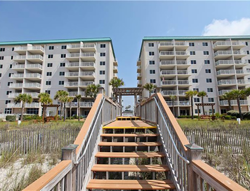 Go straight from your unit to the beach with the easy access crosswalk at Easy access to the beach from Sandy Key Condominiums Perdido Key Florida