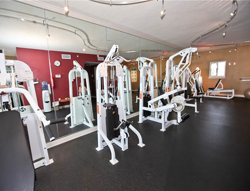 Work out in the the gym  at Easy access to the beach from Sandy Key Condominiums Perdido Key Florida