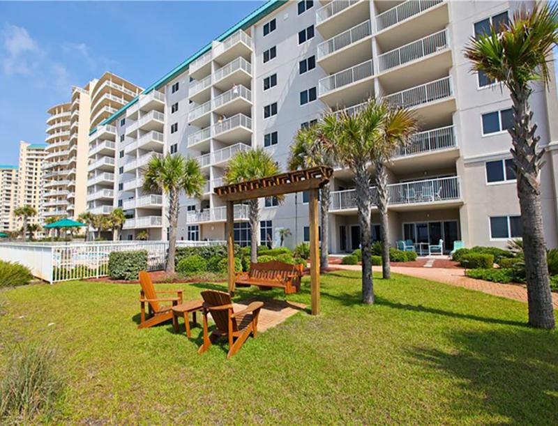 Plenty of green space at Easy access to the beach from Sandy Key Condominiums Perdido Key Florida