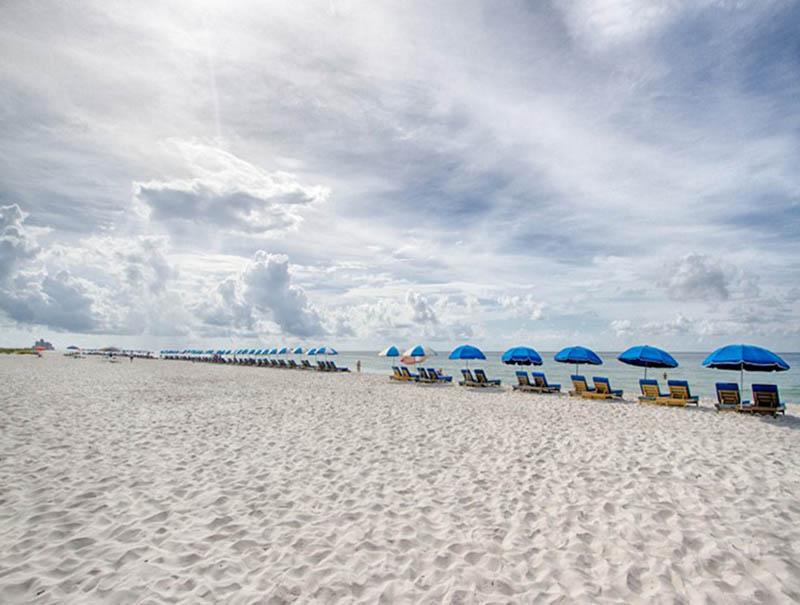 Crystal white sand in front of Seaspray in Perdido Key FL