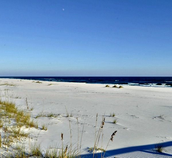 Lovely sand beach directly in front of Spanish Key  in Perdido Key Florida