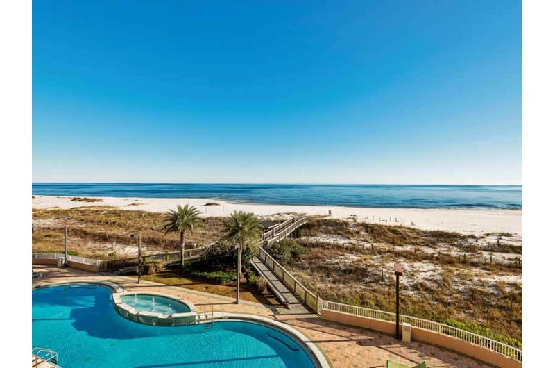 Gulf front pool at Spanish Key in Perdido Key Florida