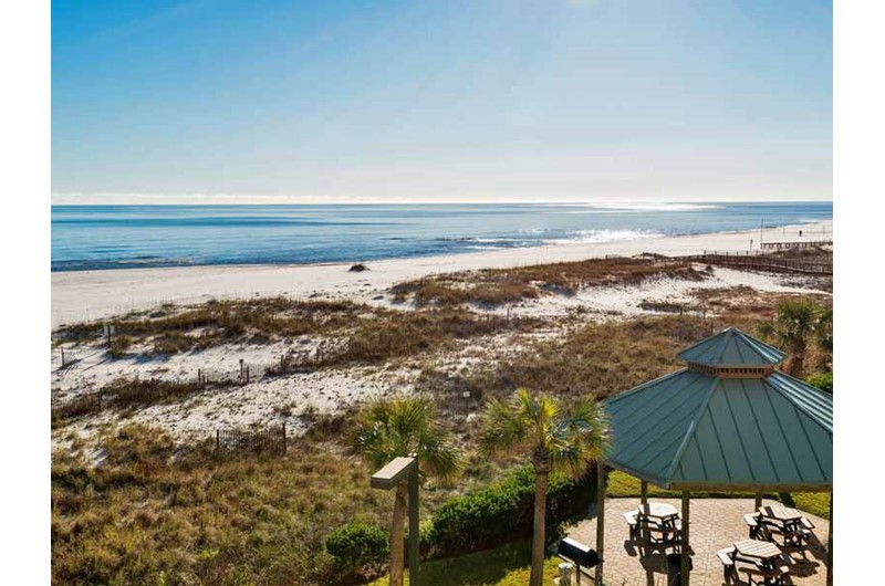 See for miles from your balcony at Spanish Key in Perdido Key Florida
