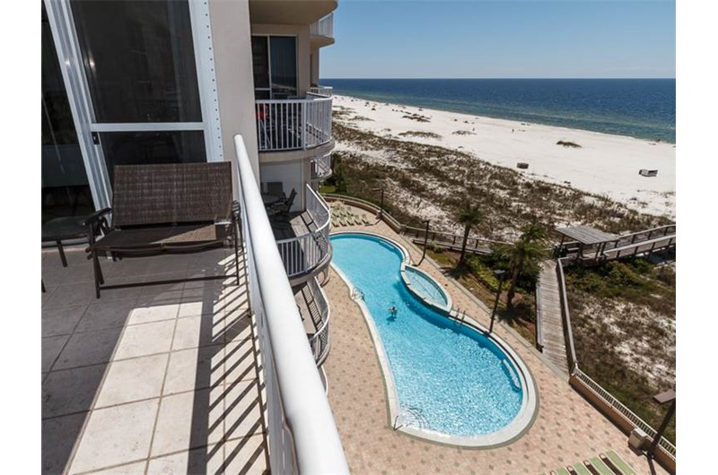 See the pool and beach from Spanish Key in Perdido Key Florida