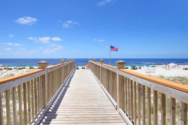 Easy crosswalk to the beach at Windemere Condominiums in Perdido Key Florida