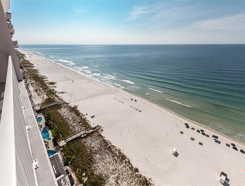 You can see all the way down the coastline from Windemere Condominiums in Perdido Key Florida