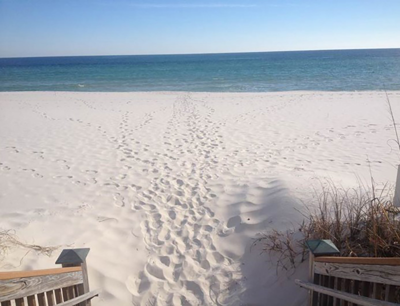 Walk right out onto the white sand from Windemere Condominiums in Perdido Key Florida