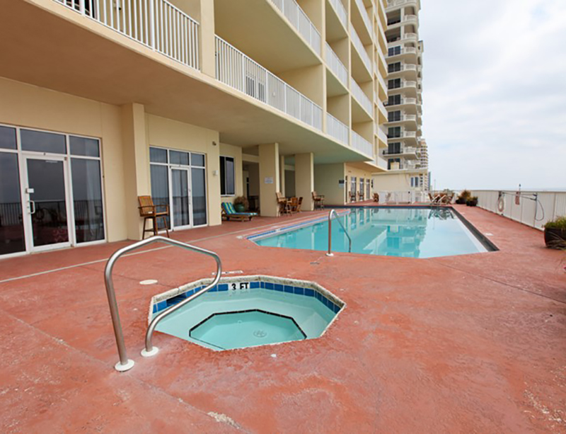 You have your choice of the pool or hot tub at Windemere Condominiums in Perdido Key Florida