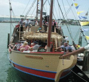 Pirate Ship at Johns Pass in St. Pete Beach Florida