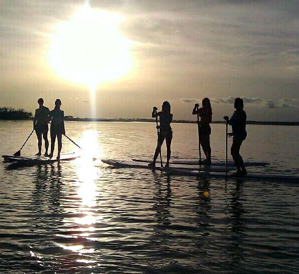 Paddleboarding at Portofino Island Resort in Pensacola Beach Florida