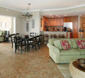 Large floor plan for entertaining at the Portofino Island Resort on Pensacola Beach.