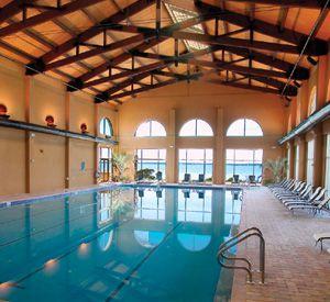 Indoor swimming pool at the Portofino Island  Resort.