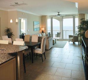 Kitchen and dining area at Portofino Island Resort.
