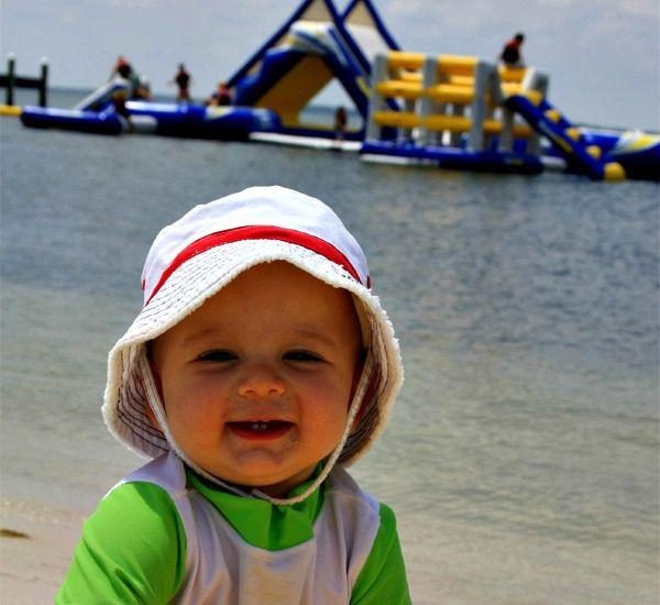 Water play area at Portofino Island Resort in Pensacola Beach Florida