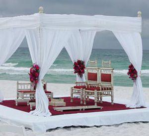 Wedding on the beach at Portofino Island Resort in Pensacola Beach Florida