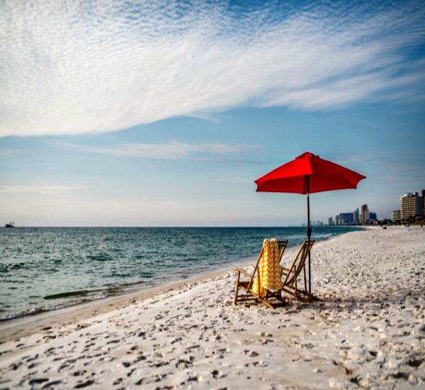 Beach Umbrella At Princess Condos In Panama City Fl