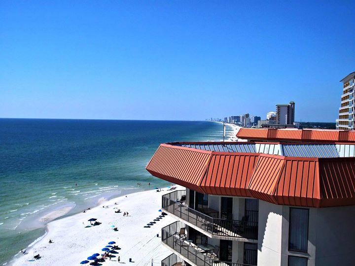 Balcony view of Panama City Beach from Princess Condos