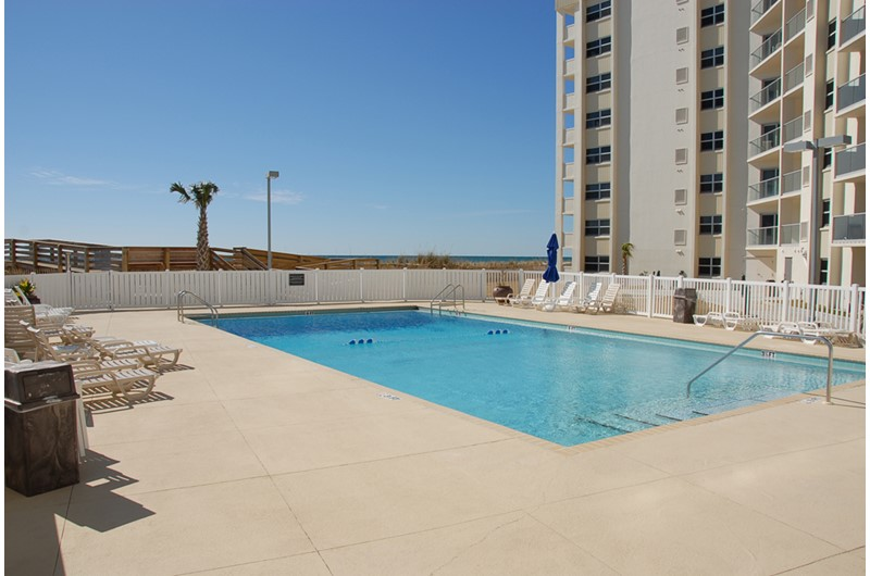Lovely pool area at Regency Towers in Pensacola Beach Florida