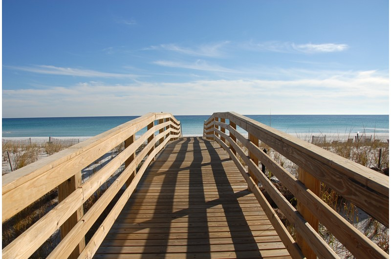 Hancy boardwalk at Regency Towers in Pensacola Beach Florida