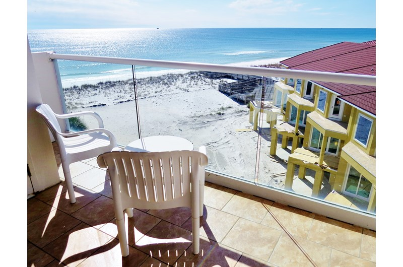 Relax on your balcony at Regency Towers in Pensacola Beach FL