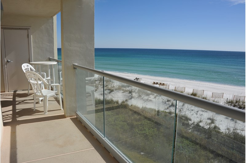 The views are lovely from your balcony at Regency Towers in Pensacola Beach Florida