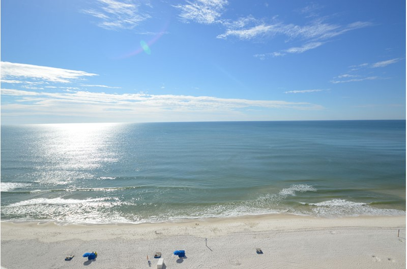 View the Gulf for mile at Royal Palms in Gulf Shores AL