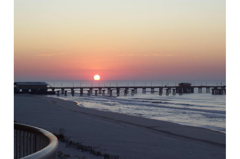 Cap off your day with the gorgeous sunset at Royal Palms in Gulf Shores AL