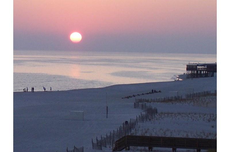 View incredible sunsets from your balcony at Royal Palms in Gulf Shores AL