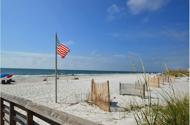 The beach is gorgeous at Royal Palms in Gulf Shores AL