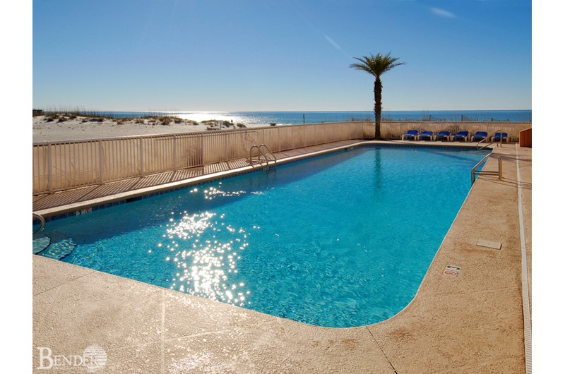 Let your cares melt away in the pool at Royal Palms in Gulf Shores AL
