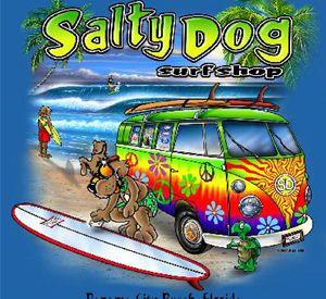 Salty Dog Surf Shop in Panama City Beach Florida