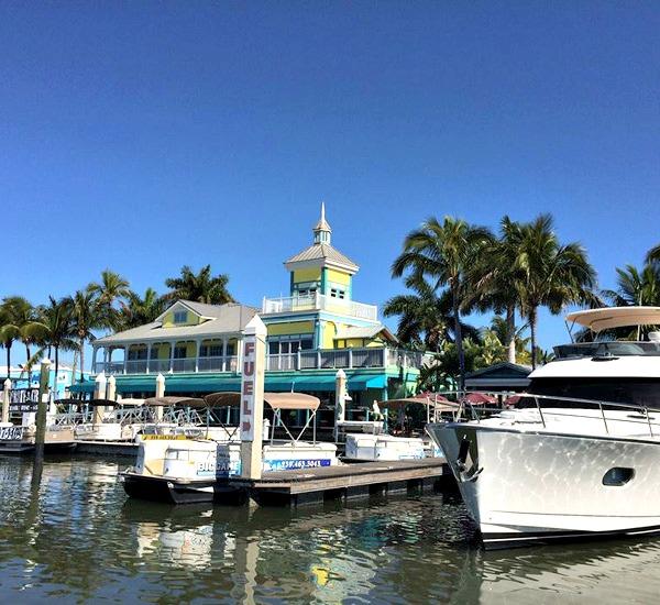 Salty Sam's Marina in Fort Myers Beach Florida