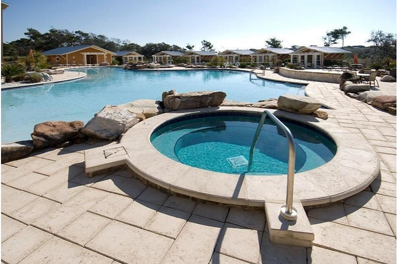 Hot tub and pools at Redfish Village on 30a