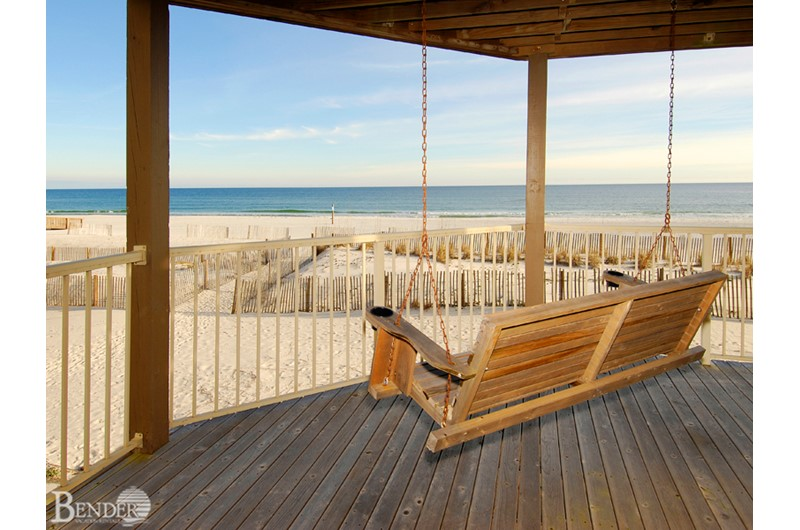 Relax and view the Gulf from your porch swing at Sandpiper Condos in Gulf Shores AL