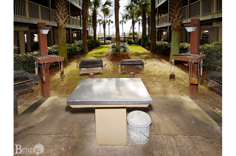 Have a cookout at the grilling area at Sandpiper Condos in Gulf Shores AL