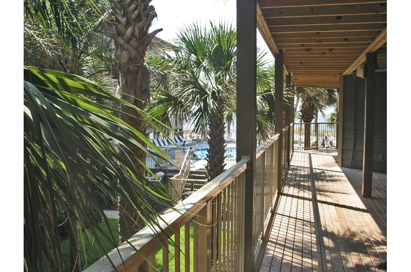 Extensive decking at Sandpiper in Gulf Shores AL
