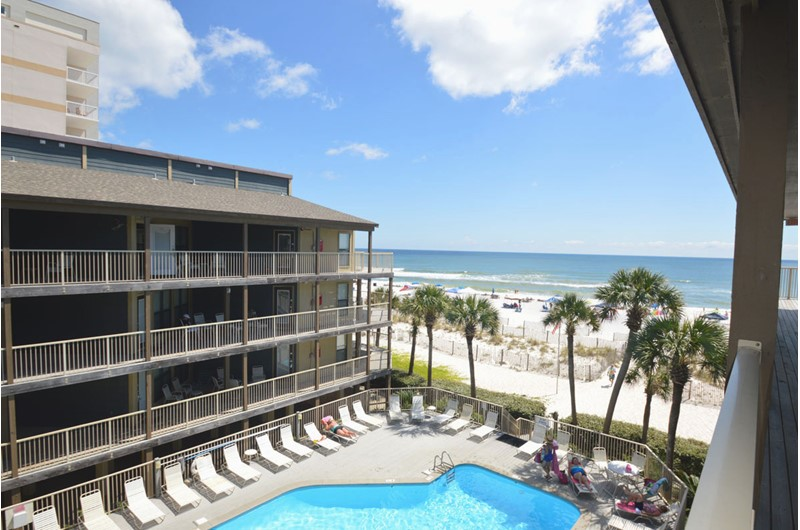 Enjoy the wonderful beach front pool at Sandpiper Condominiums in Gulf Shores AL