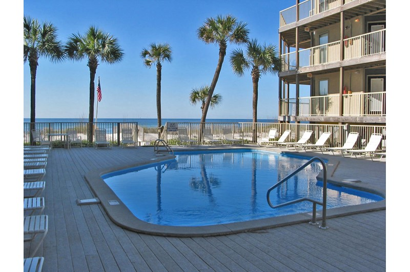 Dive into the refreshing pool at Sandpiper Condos in Gulf Shores AL