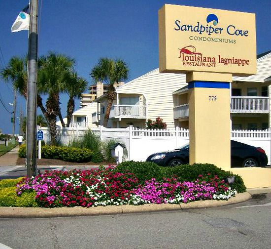 Marquee in front of Sandpiper Cove in Destin Florida