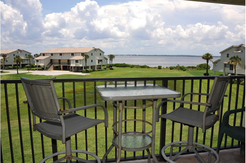 Enjoy the view from your balcony at Santa Rosa Dunes in Pensacola Beach Florida