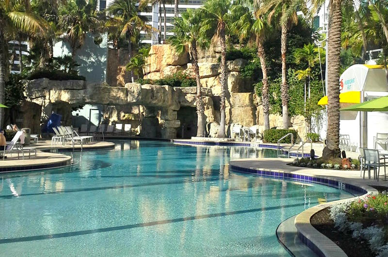 Hyatt Regency pool view in Sarasota FL